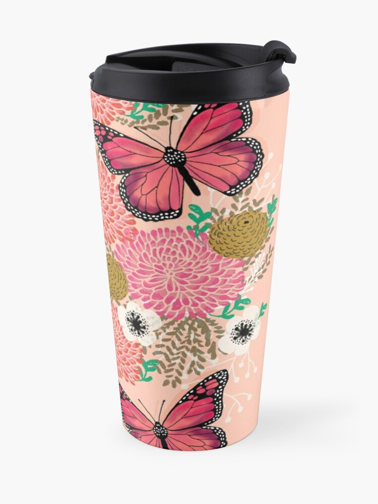 Alternate view of Monarch Florals by Andrea Lauren  Travel Mug
