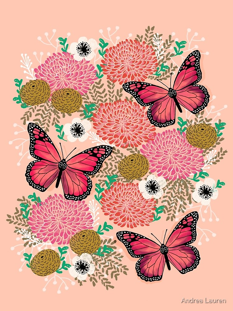 Monarch Florals by Andrea Lauren  by papersparrow