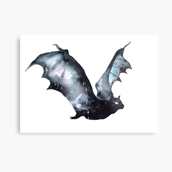 Galaxy Bat Metal Print