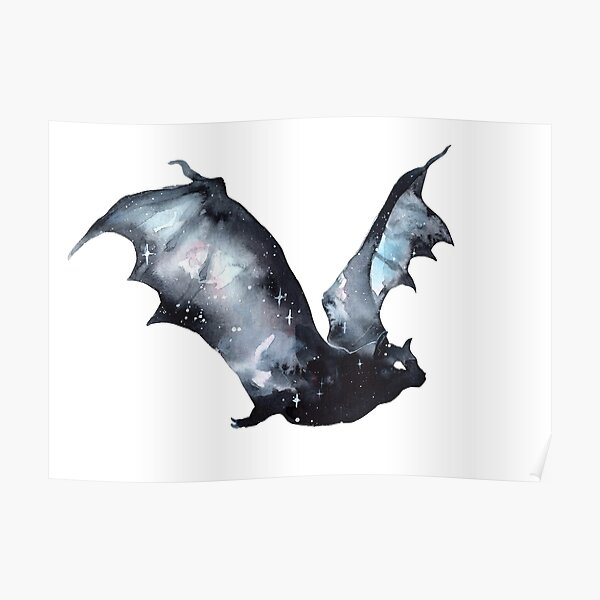 Galaxy Bat Poster