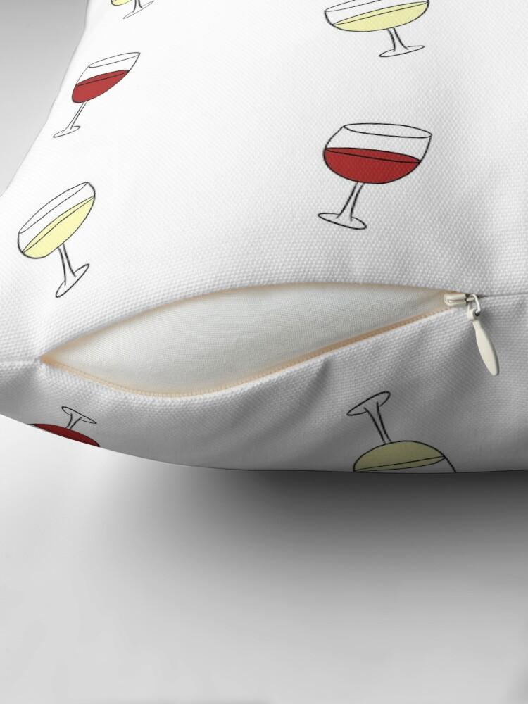 Alternate view of Red Wine, White Wine Throw Pillow