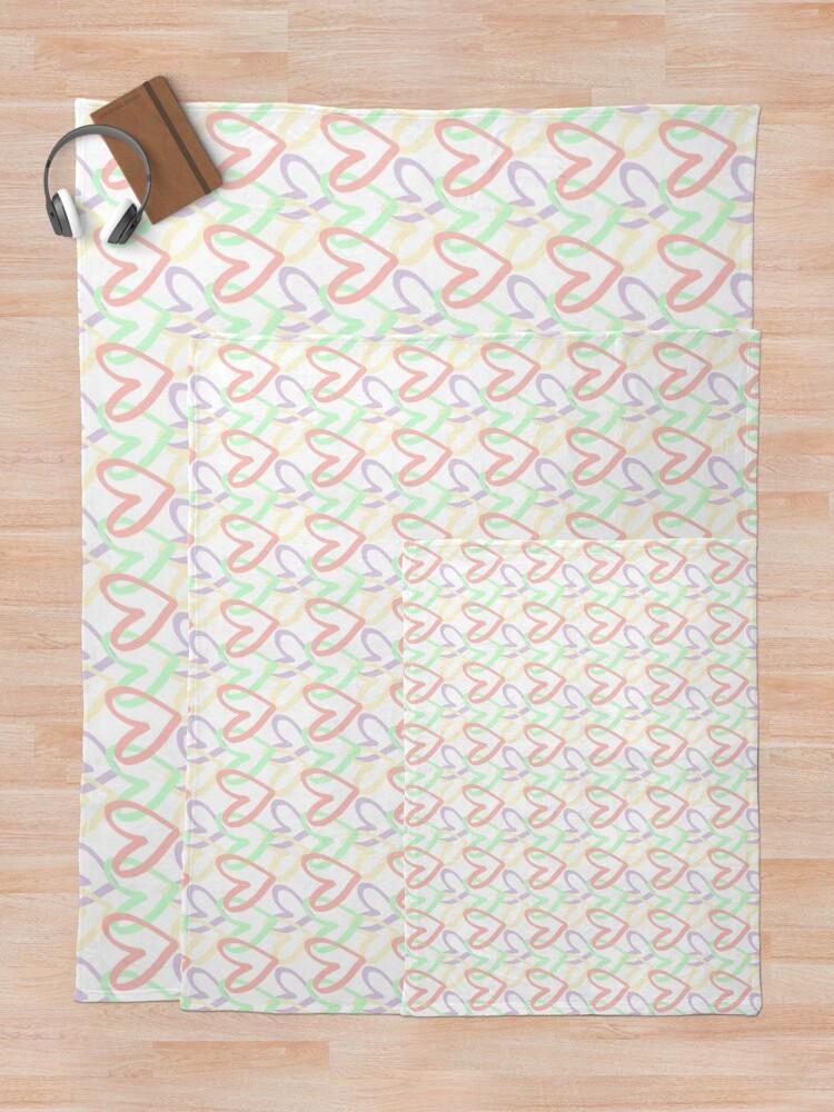 Alternate view of Pastel Hearts Throw Blanket
