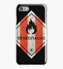 Launch flammable sign iPhone Case/Skin