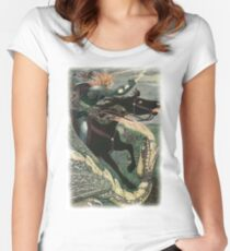 FALCON THE HUNTER from the story ILYA AND FALCON THE HUNTER in the book The Russian Story Book Fitted Scoop T-Shirt