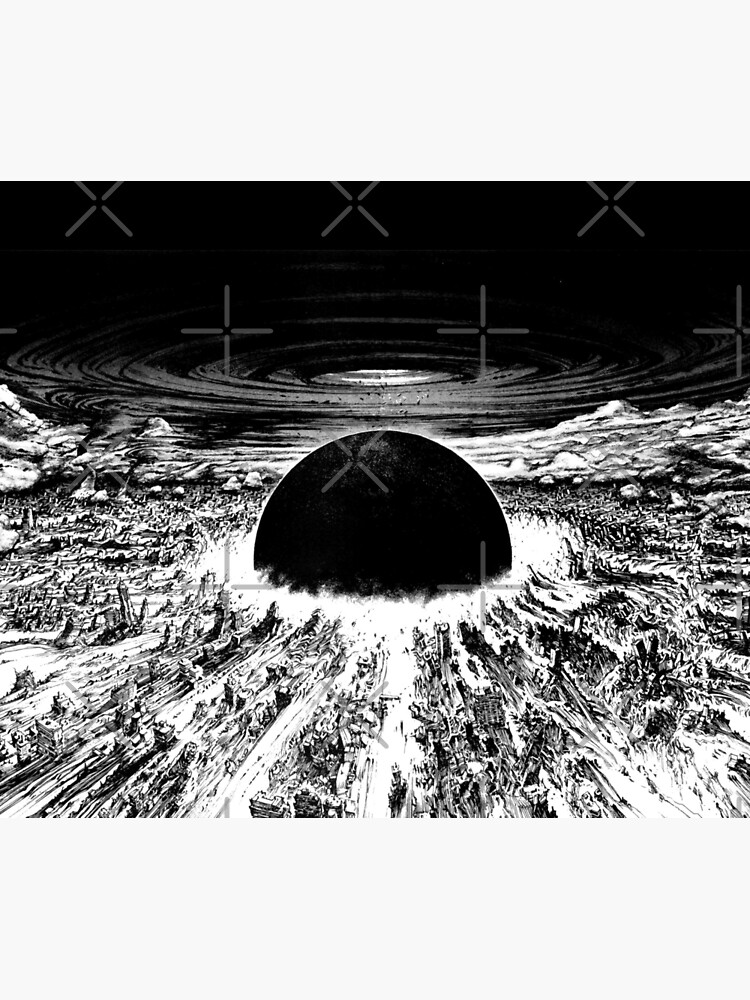 Akira cyberpunk city explosion by zerplin
