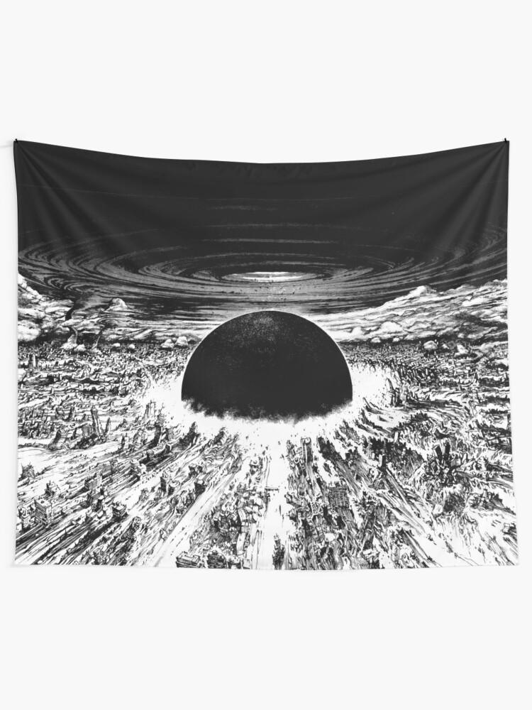 Alternate view of Akira cyberpunk city explosion Tapestry