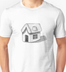 Naive Thatched House Sketch Unisex T-Shirt