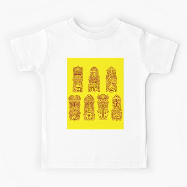 #Illustration, #art, #ancient, #antique, ornate, old, design, aztec, symbol, decoration Kids T-Shirt