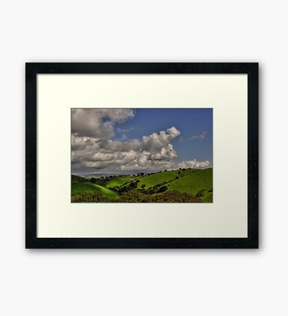 small village in the hills  Framed Print