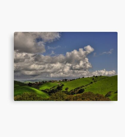 small village in the hills  Canvas Print