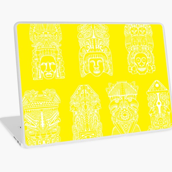 #Illustration, #art, #ancient, #antique, ornate, old, design, aztec, symbol, decoration Laptop Skin