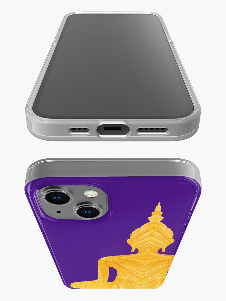 Alternate view of Buddha meditation iPhone Case