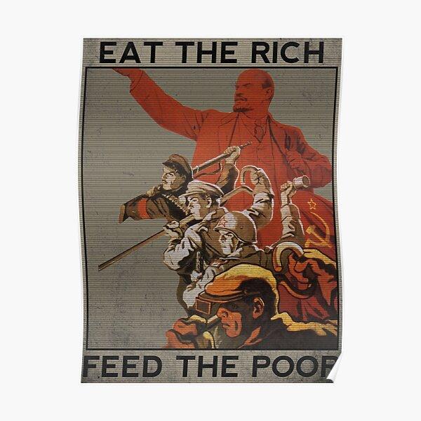 Manger les riches, nourrir les pauvres Poster