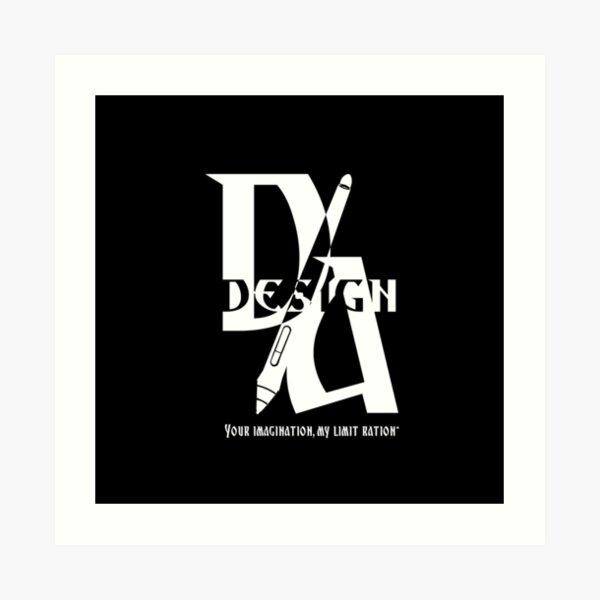 New logo in White Art Print