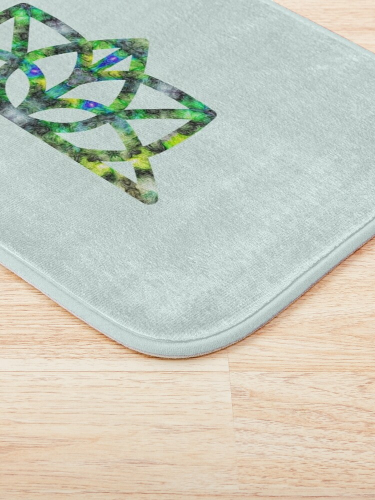 Alternate view of Yoga symbol green Bath Mat