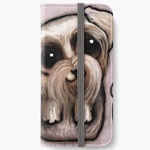 Yorkshire with big eyes and a quote iPhone Wallet