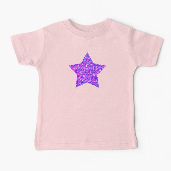 Sparkle Confetti Stars   Multi-color with Fuchsia Tint    Baby T-Shirt