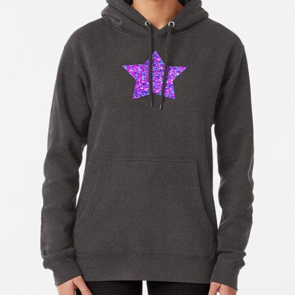 Sparkle Confetti Stars   Multi-color with Fuchsia Tint    Pullover Hoodie