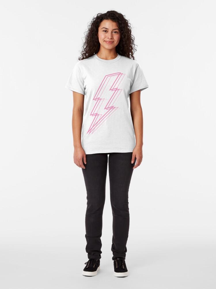 Alternate view of Pink Lightning Classic T-Shirt
