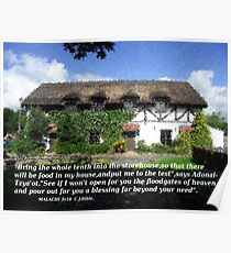 MALACHI  3  Thatched  House impressionist paint effect  Poster
