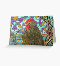 313 - CHICKEN DESIGN - DAVE EDWARDS - COLOURED PENCILS - 2010 Greeting Card