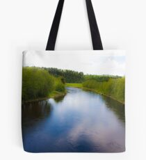 Fairy - tale  ...Bjora River... Nord Trondelag.  Norway .  Brown Sugar Story.2009. Favorites: 3 Views: 452 . Tight lines friends ! WooHoo! Tote Bag