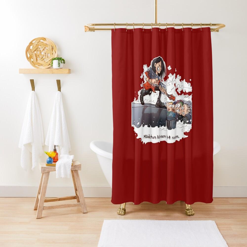 Mädchen können nicht rocken Duschvorhang