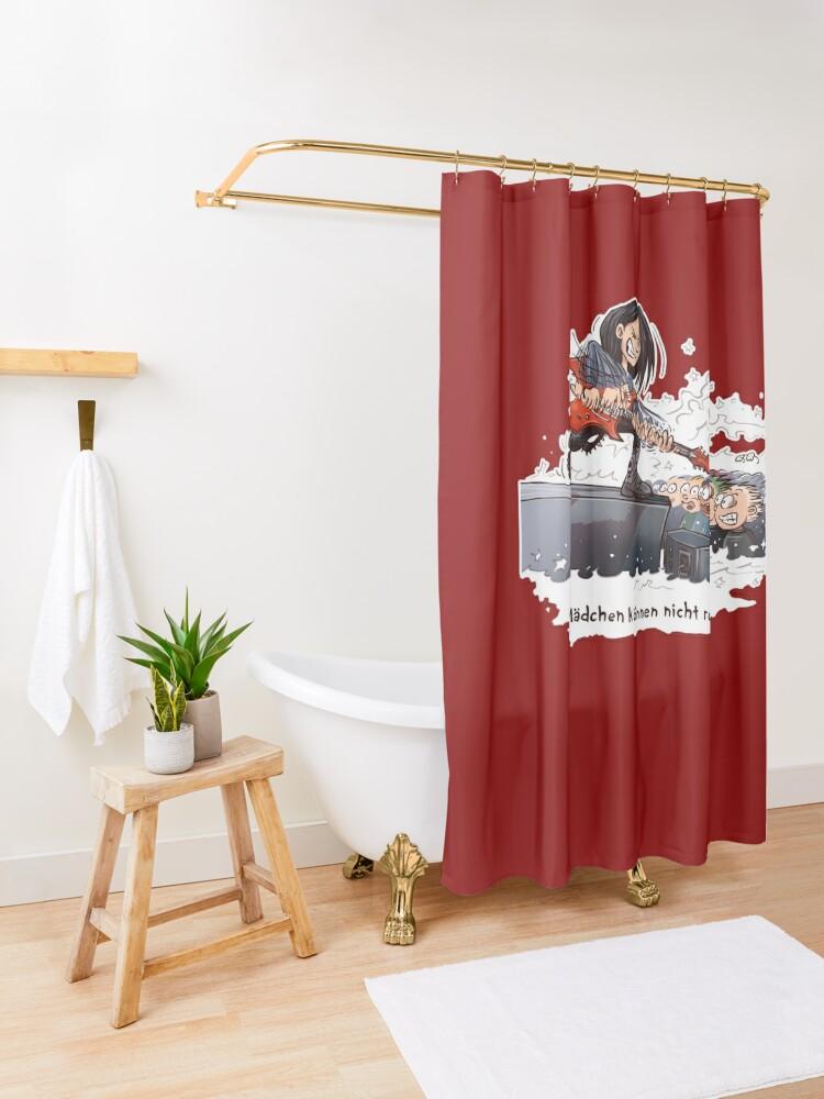 Alternative Ansicht von Mädchen können nicht rocken Duschvorhang