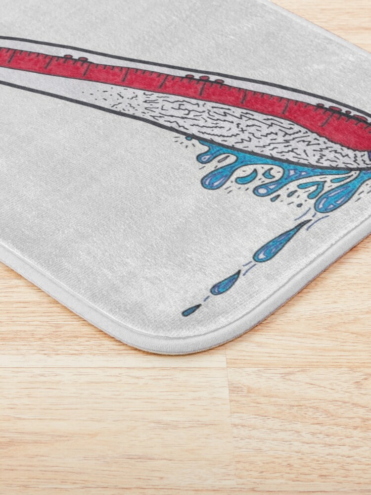 Alternate view of Merch #21 -- Thermometer Exclamation Bath Mat