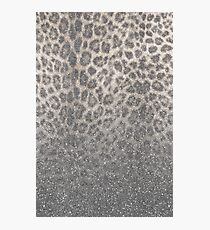 Shimmer (Snow Leopard Glitter Abstract) Photographic Print