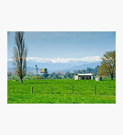 Farming with a slight chill factor Photographic Print