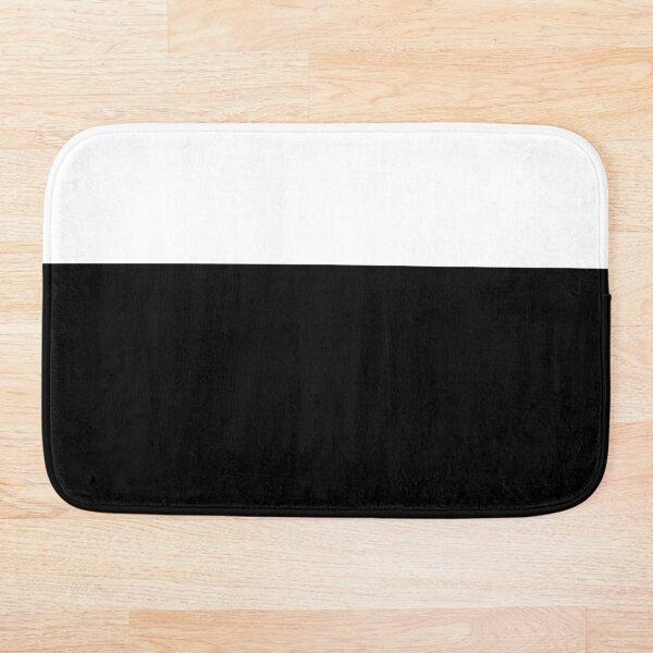Black White Color Block Bath Mat