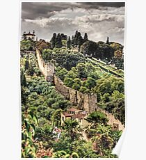 Walls of Florence Poster