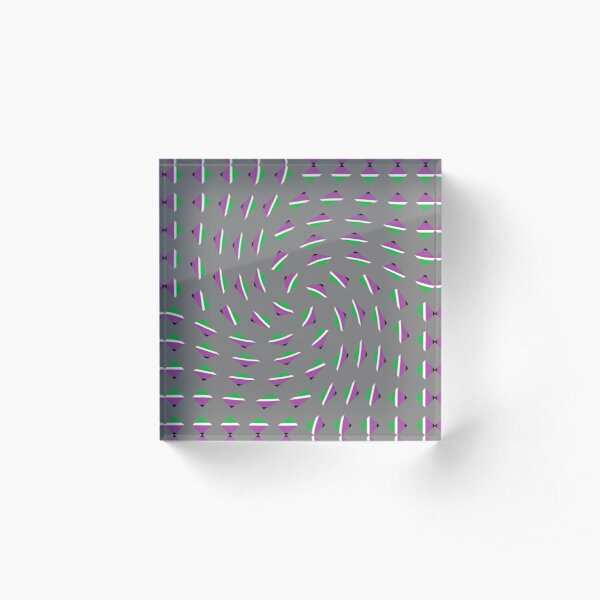 #Pattern, #textile, #design, #abstract, decoration, geometry, scrapbook, illustration, repetition Acrylic Block