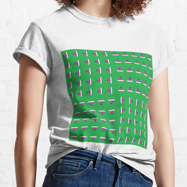 #Pattern, #textile, #design, #abstract, decoration, geometry, scrapbook, illustration, repetition Classic T-Shirt