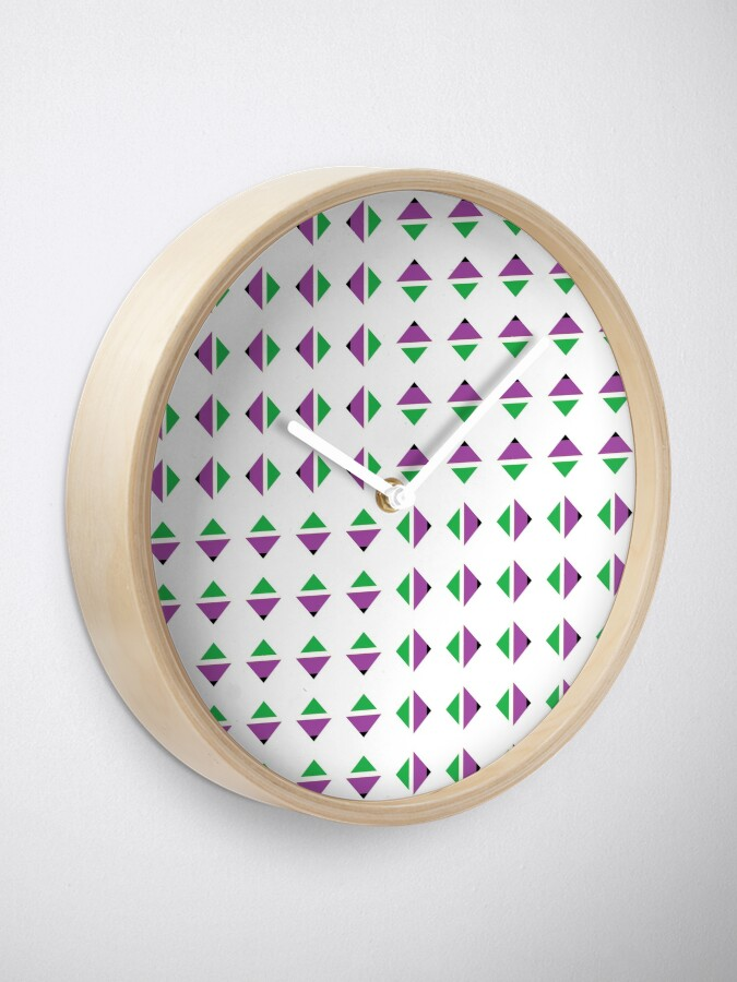Alternate view of #Pattern, #textile, #design, #abstract, decoration, geometry, scrapbook, illustration, repetition Clock