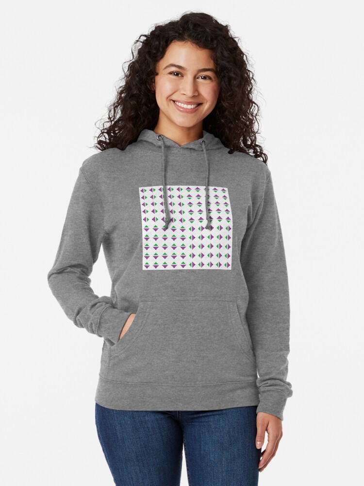 Alternate view of #Pattern, #textile, #design, #abstract, decoration, geometry, scrapbook, illustration, repetition Lightweight Hoodie
