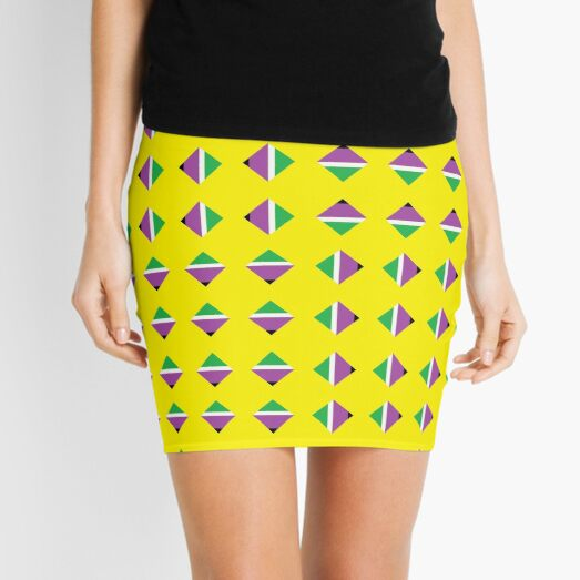 #Pattern, #textile, #design, #abstract, decoration, geometry, scrapbook, illustration, repetition Mini Skirt