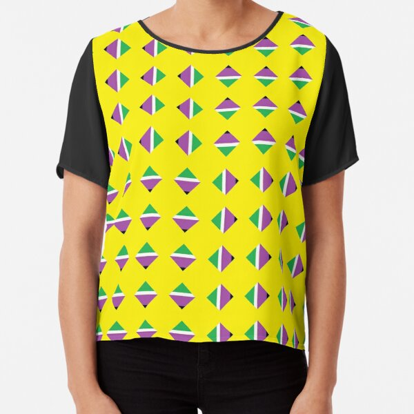 #Pattern, #textile, #design, #abstract, decoration, geometry, scrapbook, illustration, repetition Chiffon Top