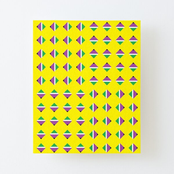 #Pattern, #textile, #design, #abstract, decoration, geometry, scrapbook, illustration, repetition Canvas Mounted Print