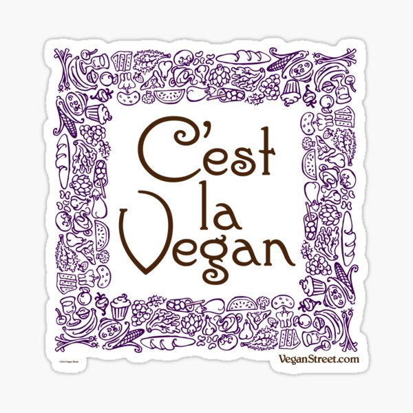 C'est la Vegan Sticker