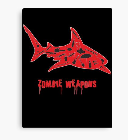 The best zombie weapon is a shark? Canvas Print