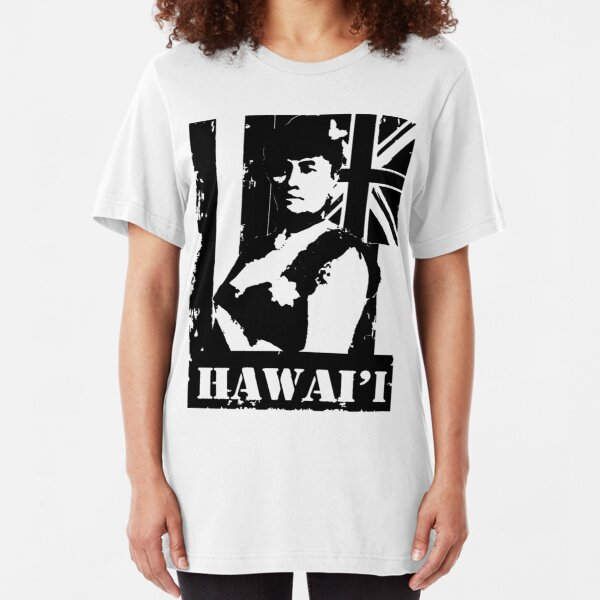 Hawai'i Queen Liliuokalani by Hawaii Nei All Day Slim Fit T-Shirt