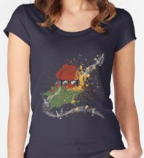 Male Dj Illustration 2 Women's Fitted Scoop T-Shirt