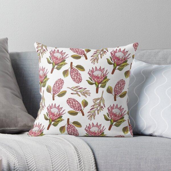King Protea Delight Throw Pillow