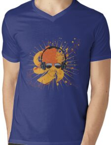 Male Dj Illustration Mens V-Neck T-Shirt