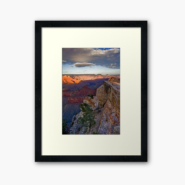 Grand Canyon National Park Cloud Reflection Vertical Framed Art Print