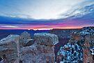 Grand Canyon National Park Pink Sunrise by photosbyflood