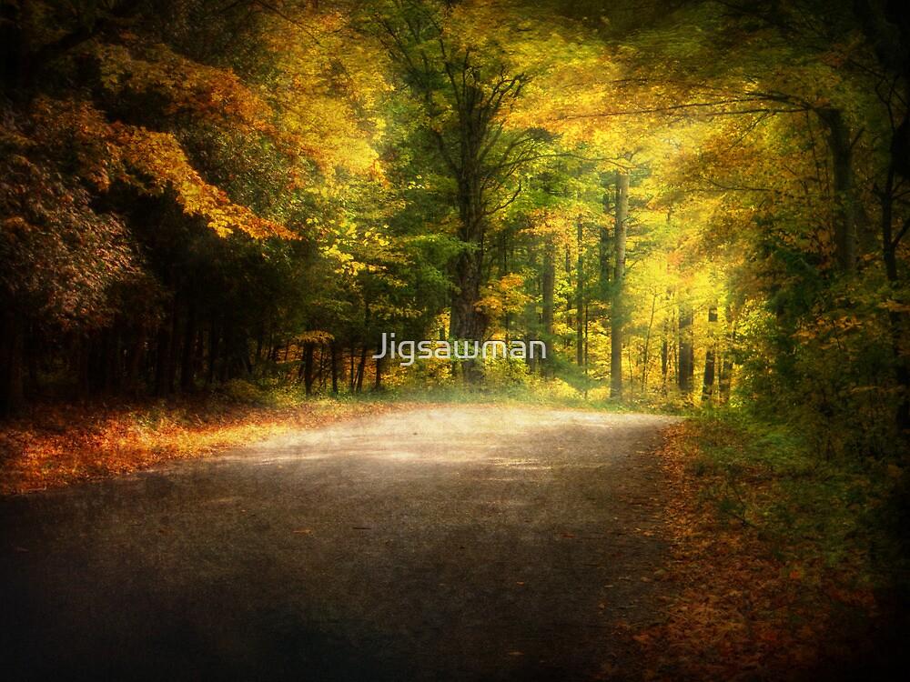 Autumn Lane • Door County by Jigsawman