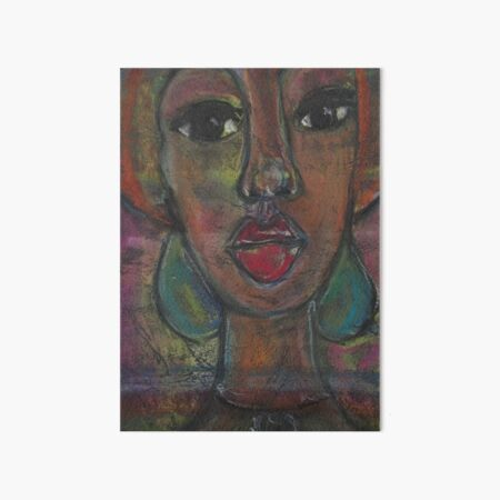 Pastel Portrait - S41 Art Board Print